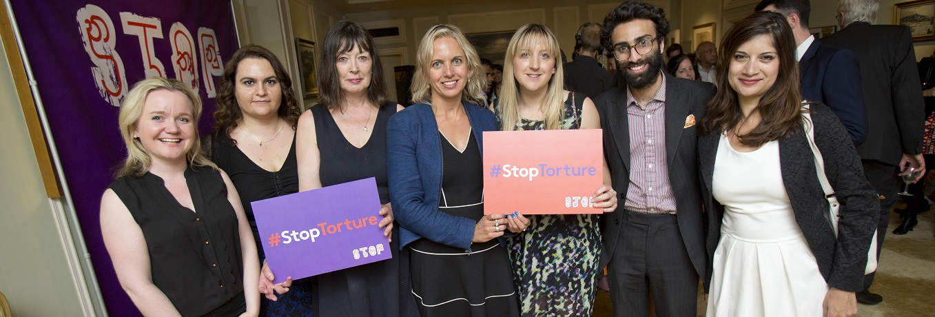 The International Truth and Justice Project held an event in support of Sri Lankan victims of sexual violence at the residence of the Canadian High Commissioner in Grosvenor Square this evening. Bianca Jagger, MIA, Cara Delevingne (by video link) and Bond Girl Maryam D'abo read out the testimony of victims of rape in Sri Lanka, speaking their words as it would not have been safe for them to do so themselves. The event was hosted by the BBC's Jenni Murray and American roving ambassadors Stephen Rapp (war crimes) and and human rights lawyer Amal Alamuddin were also in attendance. Pictured:(centre) Kirsty Brimelow QC & team Pix.Tim Anderson 11.6.14