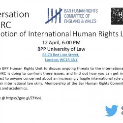A conversation with BHRC at BPP Holborn: The Promotion of International Human Rights Law