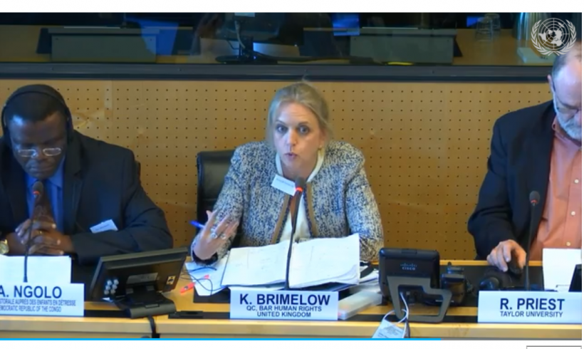 BHRC Chair moderates the first UN Workshop on Witchcraft and Human Rights