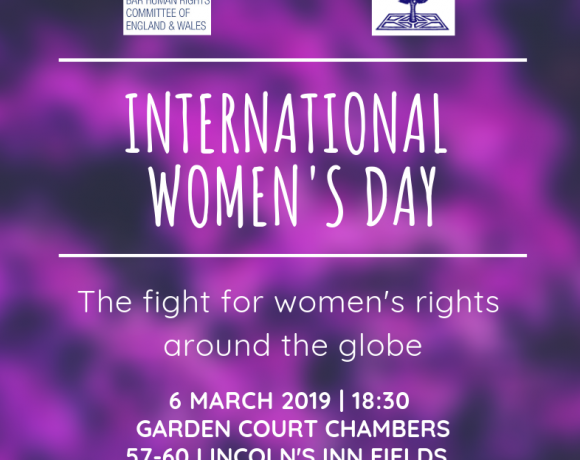 BHRC & Garden Court highlighting the voices for women's rights around the globe in event for International Women's Day